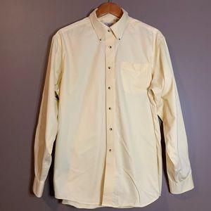 L.l.Bean pale yellow button down shirt